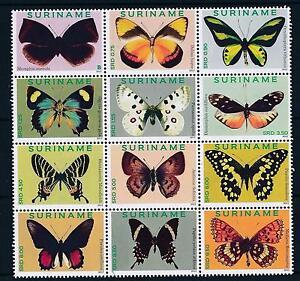 [SU1861] Suriname Surinam 2012 Butterflies  MNH