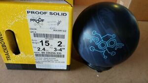 NEW 15lb Track Proof Solid Bowling Ball 12062