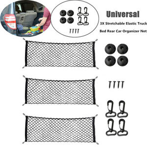 3PCS Polypropylene Car Stretchable Elastic Truck Bed Rear Organizer Universal