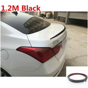 Universal 1.2M Black Car Rear Wing Lip Spoiler Tail Trunk Roof Trim Luxury Kit