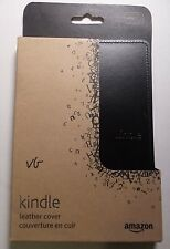 Amazon Kindle Leather Cover, Black (does not fit Kindle Paperwhite, Touch