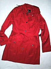LONDON FOG Chili Red trench rain dress Coat size SMALL