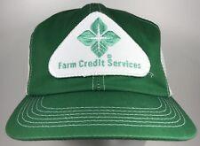 Vintage Farm Credit Services Hat Snapback K Brand Patch Cap Trucker Green USA