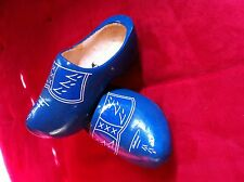 Dutch Wooden Clogs  Blue / White decor size 23 =15 cm many sizes available