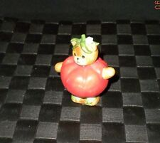 "1988 Lucy & Me Enesco ""Red Tomato"" Vegetable Bear Figurine"