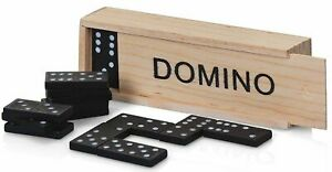 NEW - 28 Pieces Dominoes Set in a  Wooden Box Domino Traditional Game