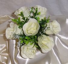 bridesmaids wedding posy bouquet ivory roses other colours available
