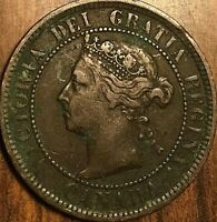 1884 CANADA LARGE CENT PENNY LARGE 1 CENT COIN