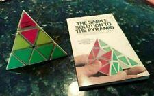 Vintage 1981 TOMY Pyraminx Pyramid Brain Teaser Rubik's Puzzle w/ Solution Book