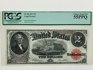 1917 $2 Legal Tender Note Fr. 60  -  PCGS Choice About New 55 PPQ.