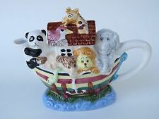 Ceramic Decorative Creamer Milk Tea Pourer ~*~ NOAH'S ARK: Giraffe, Elephant Zoo