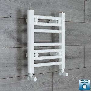 300mm Wide 400mm High Straight White Heated Towel Rail Radiator Bathroom Rad