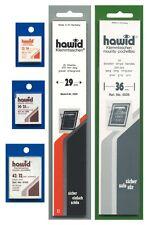Bandes HAWID double soudure 210x36mm, fond noir.
