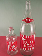 RaRe BIG 32 Oz.The POP SHOPPE Painted Label Bottle USA Version Portland OR VTG