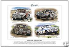 Ford Escort Mk1 Rallye Coches-Fine Art Print-Rs1600 Rac Mikkola Makinen & Clark