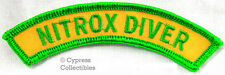 New listing NITROX DIVER CHEVRON SCUBA DIVING ENRICHED AIR CERTIFICATION PATCH embroidered