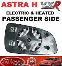 VAUXHALL ASTRA H MK5 VXR ELECTRIC HEATED WING MIRROR GLASS PASSENGER NEAR SIDE
