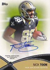 NICK TOON RC 2012 TOPPS PROLIFIC PLAYMAKERS #PPA-NT AUTO FB5747