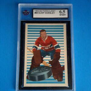 1963-64 PARKHURST VINTAGE # 98 GUMP WORSLEY HOF MONTREAL CANADIENS KSA 6.5 ENM+