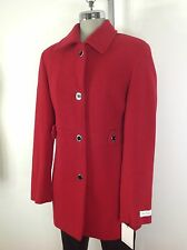 Calvin Klein NWT Red Career Women's Coat Quilted Lining 2 4 6 8 10 12 14 16 18