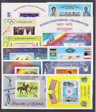 Liberia Sc C184/C214 MNH. 1969-76 issues, 12 different Air Mail souvenir sheets
