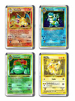 Pokemon Card Art Print Fridge Magnet Charizard Blastoise Venusaur Pikachu Design