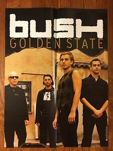 BUSH - GOLDEN STATE LP CD Record Store Display Tour Poster 2001 Gavin Rossdale