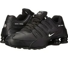 5cd2552e4863 Mens Nike Shox NZ Size 11.5 Black Leather with White logo.