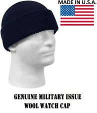 Navy Blue 100% Wool Hat Winter Cap Knitted Military Watch Cap USA Rothco 8493