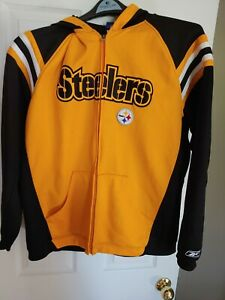 NFL Pittsburgh Steelers Men Full Zip Up Hoodie yellow/black Large