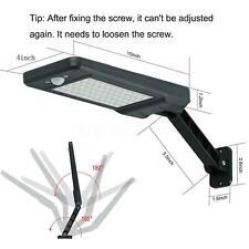 Black New Waterproof 60 LED Solar Lights Wall Lamp Street Outdoor Garden Sensor