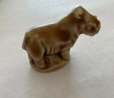 "Wade Figurine Red Rose Tea Noahs Ark Series - light brown Male Rhino -1¼"" tall"