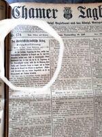 Cham 1914 Zeitung Kriegsbeginn Jahrgang komplett Chamer Tagblatt Kurier Oberpfal