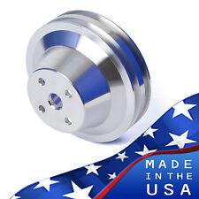Billet Aluminum Corvette Water Pump Pulley V-Belt 283 350 400 SBC SB Chevy