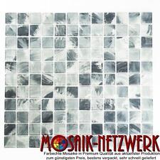 Glasmosaik grau Mosaikfliese in 25x25x4mm Bad Dusche Art: 64-0210_f | 1qm