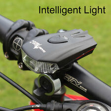 K2 Intelligent Bicycle Headlight USB Rechargeable LED 400LM Bike Front Light