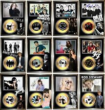Signed Framed Gold CD Disc Displays (A-B)