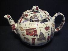 Heron Cross Pottery London scenes 6-8 Cup English Tea Pot