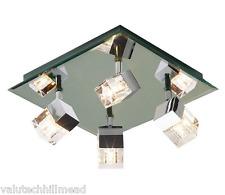 Dar Lighting Logic 4 Light Ceiling Spotlight in Chrome