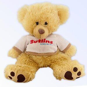 BUTLINS Posh Paws Teddy Bear Soft Toy Souvenir Yellow Jumper Kids Love Logo 41cm
