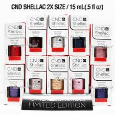Limited LARGE CND Shellac Gel Polish BIG SIZE 0.5oz 15ml Pick ANY Color Base Top