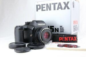 【 MINT in Box 】 PENTAX 645N + SMC FA 75mm f/2.8 + 120 Back + Strap from JAPAN