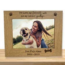 Personalised Dog Memorial Photo Frame Gift Engraved Pet Loss Keepsake Dog Owner