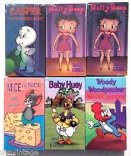 Sealed Lot Of 6 Unicorn Video VHS Videos (Woody Wood Pecker, Betty Bop & More)