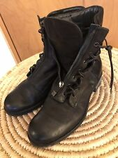 Women's ALBERTO FERMANI Black Leather Urban Combat Boots size 37