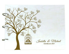 Personalized Wood Wooden Wedding Guest Book Tree Design Unique Advice-wPd