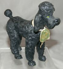 1974 Imperial Toy Black Rubber Poodle Dog Figure #1222 w/1st Place Tag