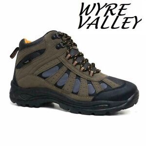 MENS HIKING BOOTS WALKING ANKLE WIDE FIT TRAIL TREKKING TRAINERS SHOES SIZE
