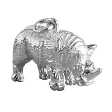 NEW Rhinoceros Charm Sterling Silver .925 Rhino Safari Animal Pendant