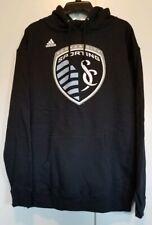 adidas MLS Men's Sporting Kansas City Team Logo Fleece Hoodie, Navy Size Large